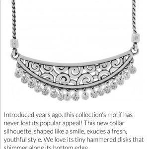 Deco dangle charm necklace NWT